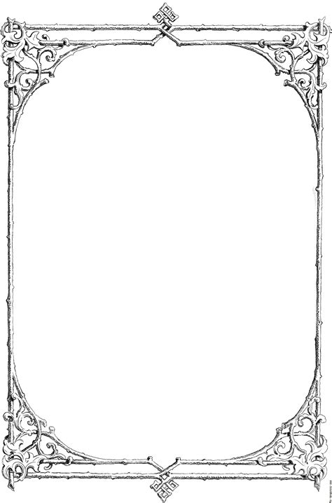 pattern writing frame free black and white borders religious free clip art