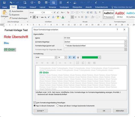 Word Vorlage Speichern Verhindern Word Angezeigter Text Als Formatvorlage Speichern Programmierer Office 365