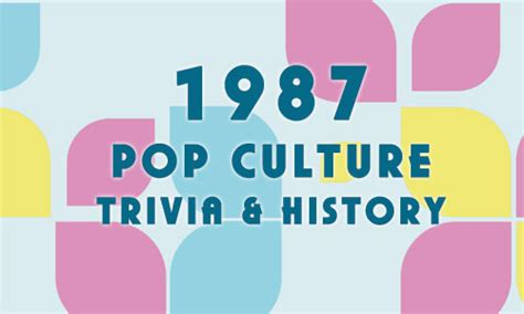 2012 fun facts history and trivia pop culture madness 1987 history trivia and fun facts pop culture madness