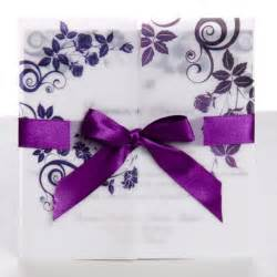 wedding invitations purple classic purple gate fold ribbon wedding invitations ewri004 as low as 1 69