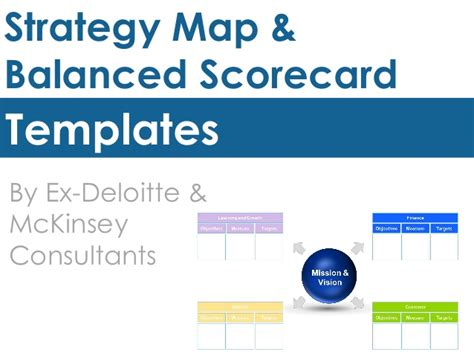 Deloitte Strategy Mba by Strategy Map Balanced Scorecard Templates By Ex