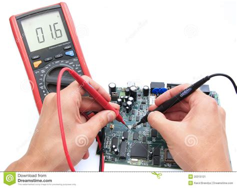 how to use a digital multimeter to test a resistor testing circuit with digital multimeter stock image image 20315121
