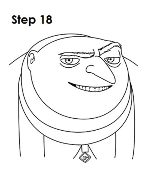 how to draw gru despicable me