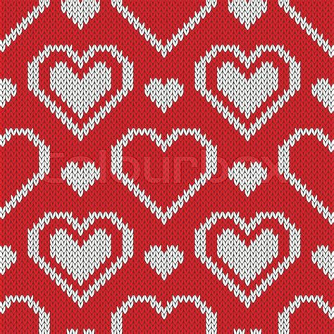free sweater pattern background seamless knitted sweater pattern with hearts stock