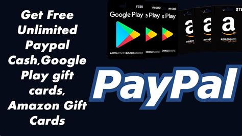 how to get free unlimited paypal cash google play gift
