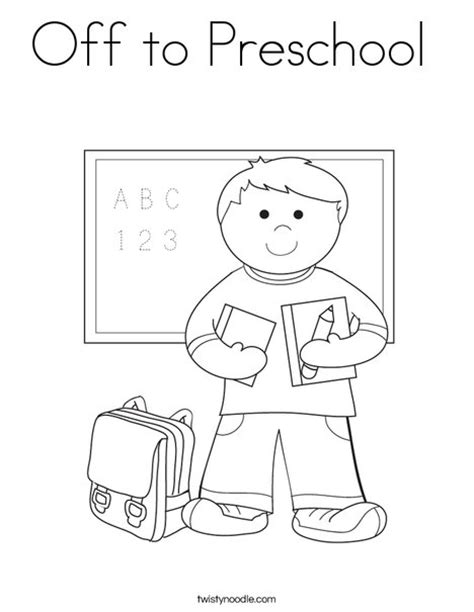 preschool coloring pages school off to preschool coloring page twisty noodle
