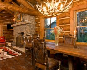 log cabin home interiors 17 best images about beautiful log cabin dining rooms on credit score antler