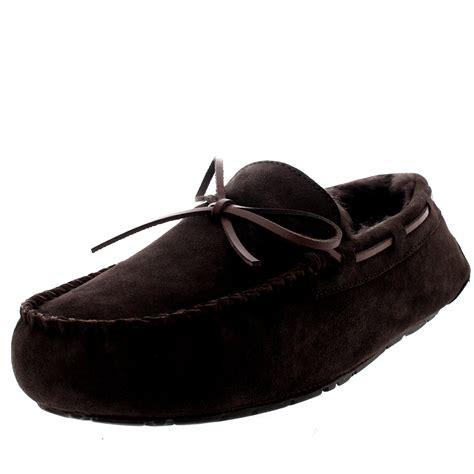 mens moccasin slippers uk mens moccasin real sheepskin australian genuine fur lined