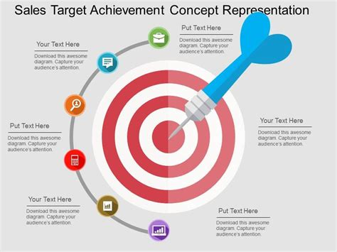 opportunity and achievement for all ppt download sales target achievement concept representation flat powerpoint design powerpoint templates
