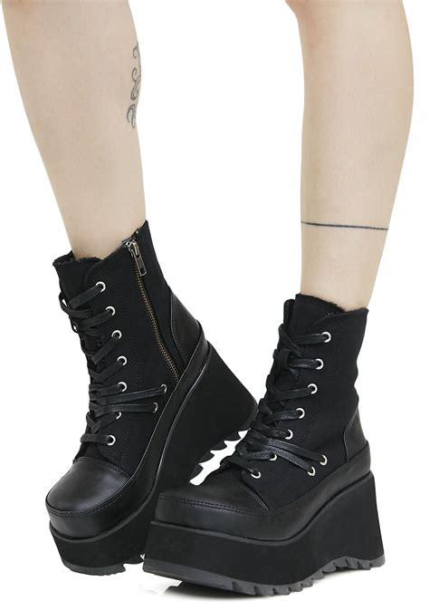 demonia platform boots demonia lace up platform boots dolls kill