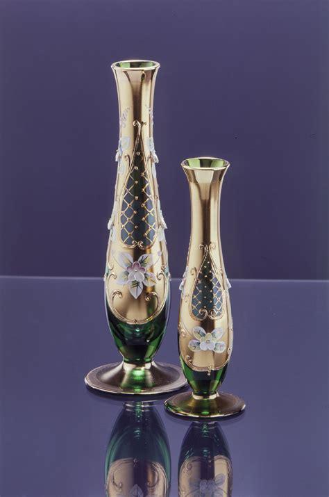 footed high enamel green vase treasury