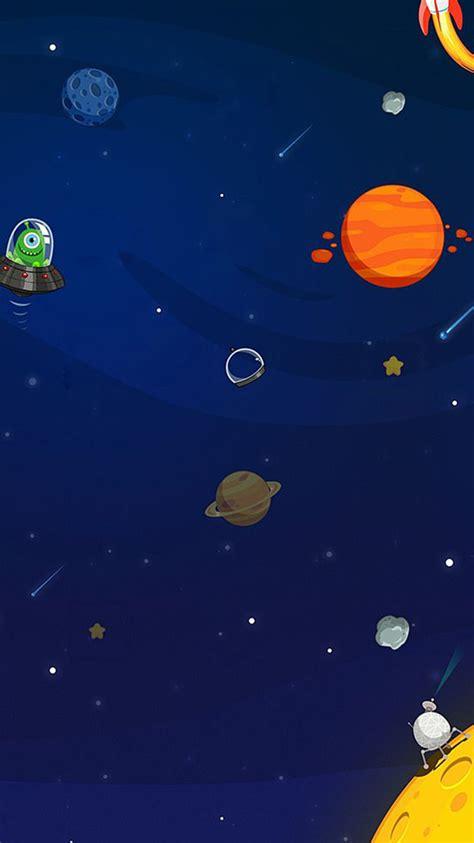 space aliens planets cartoon iphone  wallpaper hd
