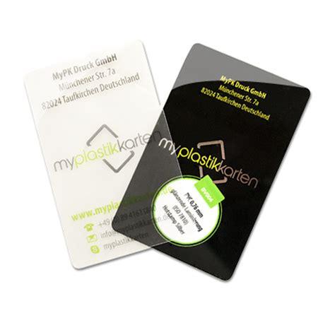 Visitenkarten Transparent by Transparente Durchsichtige Visitenkarten Myplastikkarten