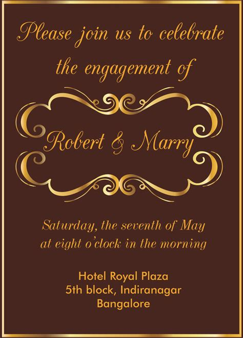 Engagement Invitation by De 13 B 228 Sta Engagement Invitation Wordings Bilderna P 229