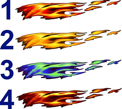 Auto Decals And Graphics by Car Truck Decals Color Flames Trailer Boat Vinyl