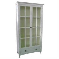 Wayborn barrister bookcase with glass door in white 9124w