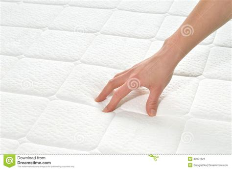 Test Mattress by Choosing Mattress And Bed Stock Photo Image 43971621