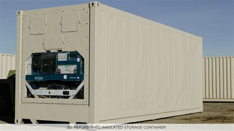 Freezer Container 20 insulated refrigerated shipping storage containers