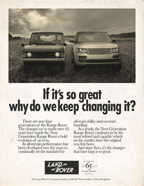 vintage land rover ad great throwback ads from land rover land rover ads