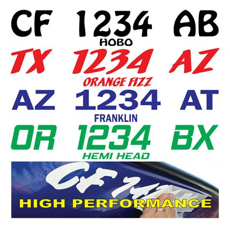 texas boat registration sticker replacement boat registration numbers lettering decals vinyl pwc