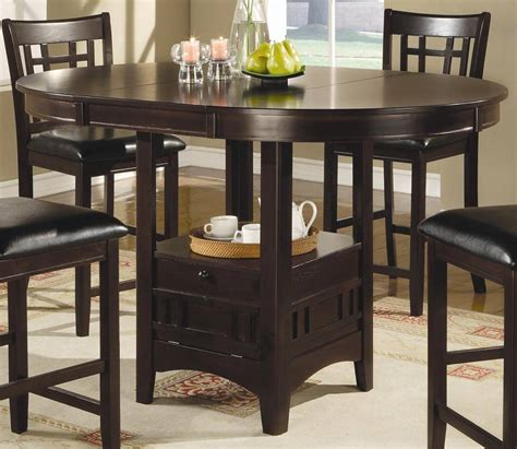 high boy dining room tables coaster lavon counter height dining set cappucino