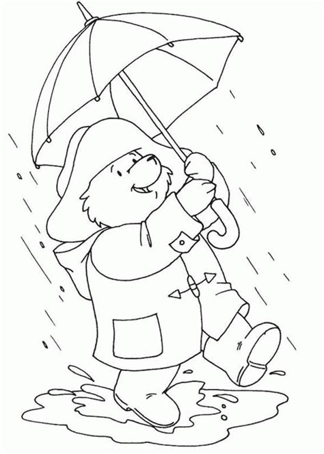raining day coloring pages az coloring pages