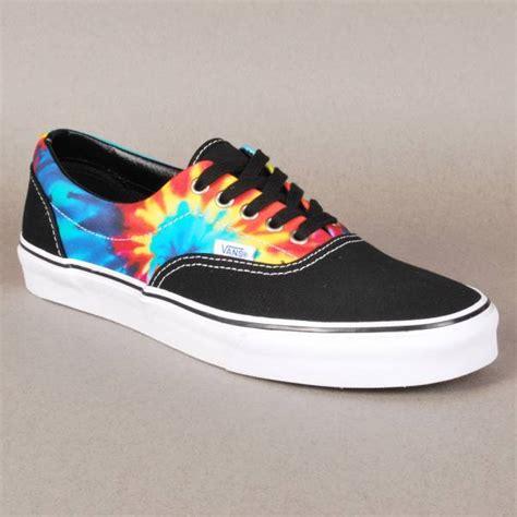 tie dye shoes vans vans era skate shoes tie dye black vans from