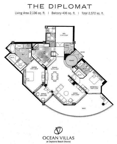 ocean shores floor plan ocean villas daytona beach shores luxury oceanfront condos