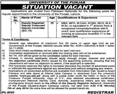 A And M Mba Application by In Of The Punjab Lahore For Deputy