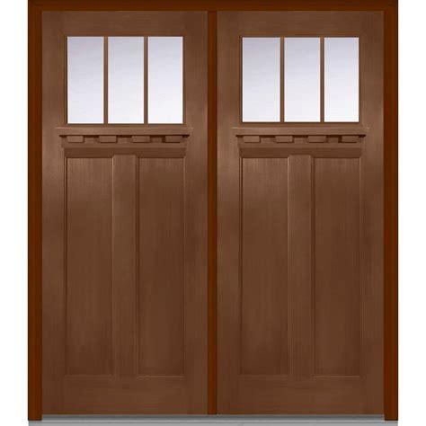 Entry Doors Mmi Door 72 In X 80 In Clear Glass Left Craftsman 1