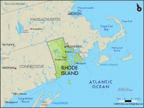 geographical map of rhode island and rhode island