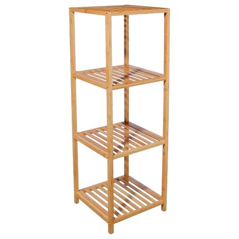 etagere 4 niveaux etag 232 re 4 niveaux quot bambou quot beige