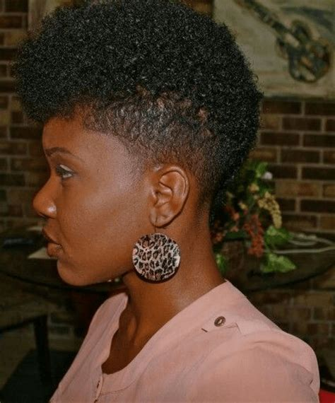 short natural hairstyles when shaved on one side and in back afro with tapered sides newhairstylesformen2014 com