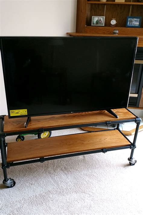industrial pipe console table industrial tv stand vintage look tv metal tv unit buy