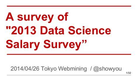 Mba Data Science Salary a survey of 2013 data science salary survey