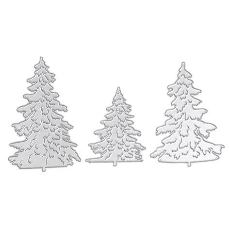 3pcs lot christmas tree metal die cutting dies for diy