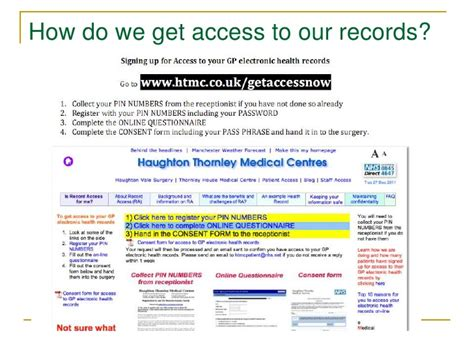 Access To Records Patient Empowerment Access To Your Record