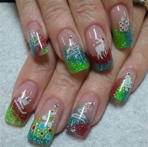 Merry christmas nail art designs 2017