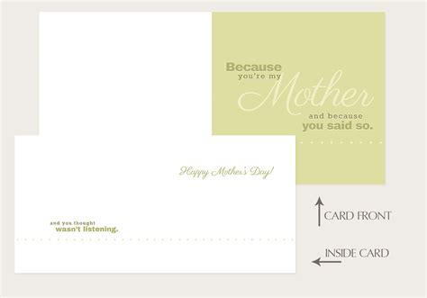Because I Said I Would Card Template by Quot Because You Re My Quot S Day Card Vector