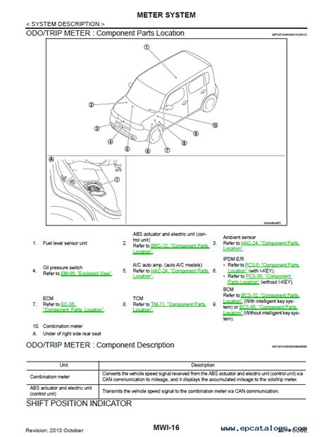 online service manuals 2010 nissan cube interior lighting nissan cube model z12 series 2014 service manual pdf