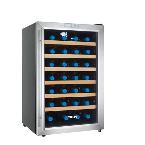 titan 28 bottle single zone thermoelectric wine cooler tt