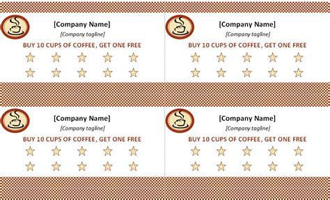 punch card template punch card template