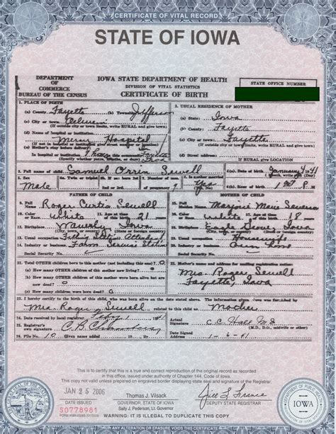 State Of Iowa Birth And Records The Steady Drip Does This Document Make Me Eligible To Be Potus Or Get A Passport