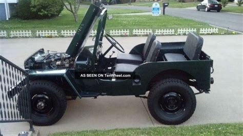 1952 Jeep Willys 1952 Jeep Willys Cj 3 2 2l 4x4