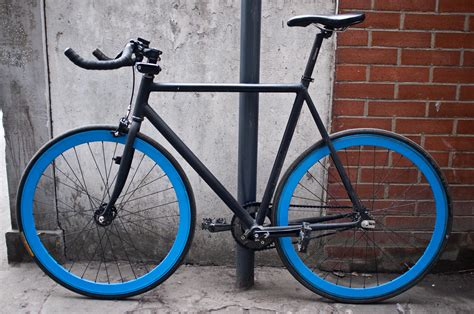 bike gear black blue fixed gear bike transportation pinterest