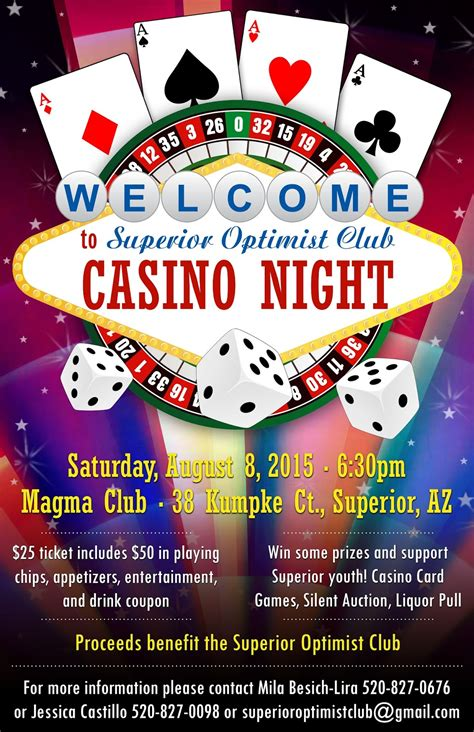 Casino Night Fundraiser Vegas Is Coming To Superior Superior Optimist Club Casino Fundraiser Flyer Template