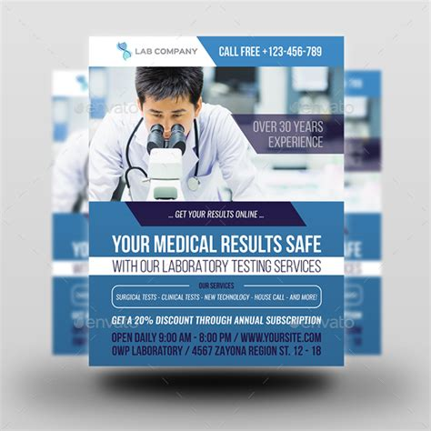 flyer design lab medical laboratory flyer template by owpictures graphicriver