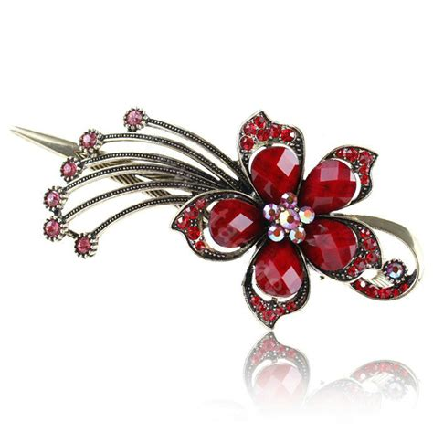 Rhinestone Retro Hair Clip buy wholesale rhinestone flower retro hairpin