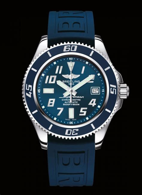 Breitling Bolt Diver Combi Black Rubber feeling blue 25 watches with blue dials and blue straps watchtime usa s no 1 magazine
