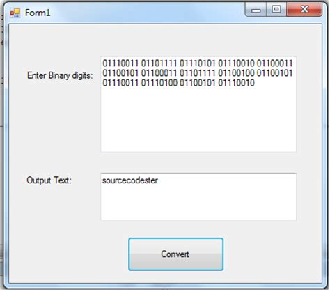 binary format converter binary to text conversion in vb net free source code